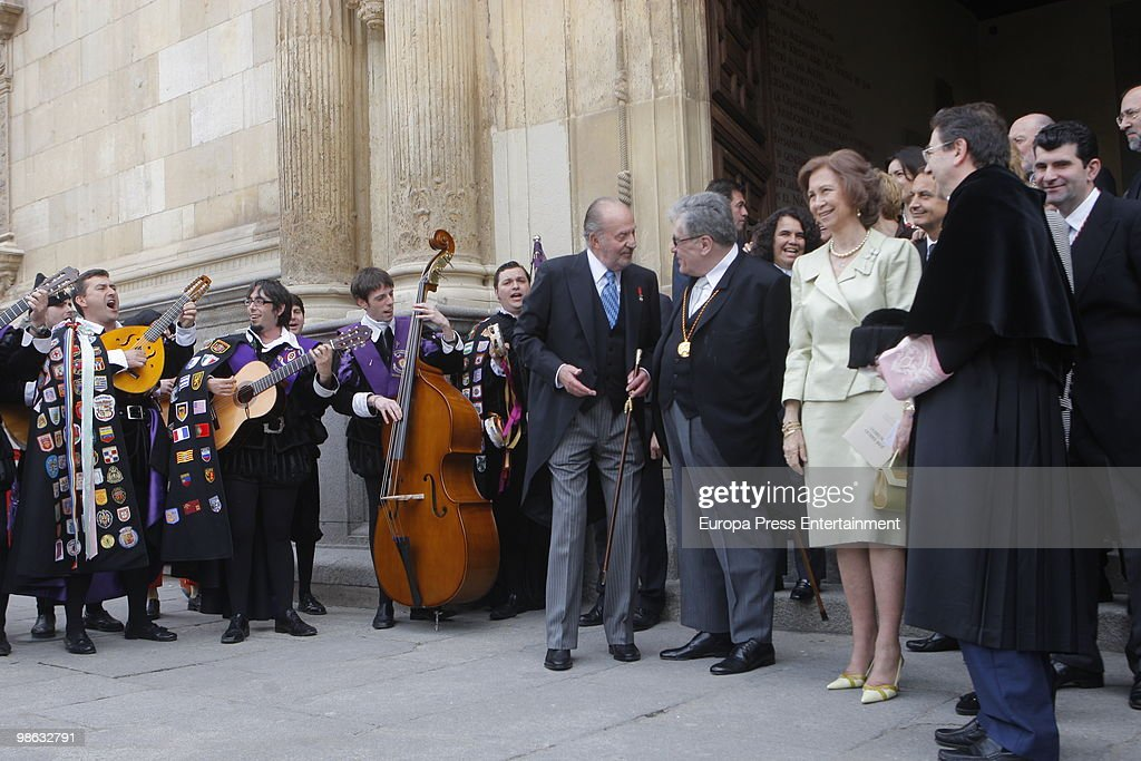 King Juan Carlos of Spain, Jose Emilio Pacheco Berny and Queen Sofia of Spain attend the ceremony of 'Miguel de Cervantes Award' to the Mexican novelist Jose Emilio Pacheco Berny on April 23, 2010 in Madrid, Spain. The 'Miguel Cervantes Award' is considered the most important award in Spanish literature.