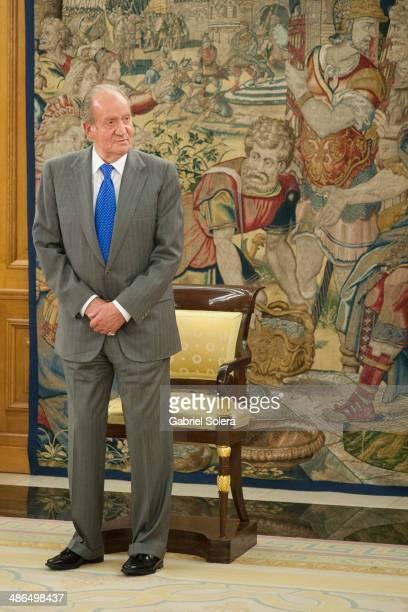 King Juan Carlos Of Spain Meets Union Representation Of