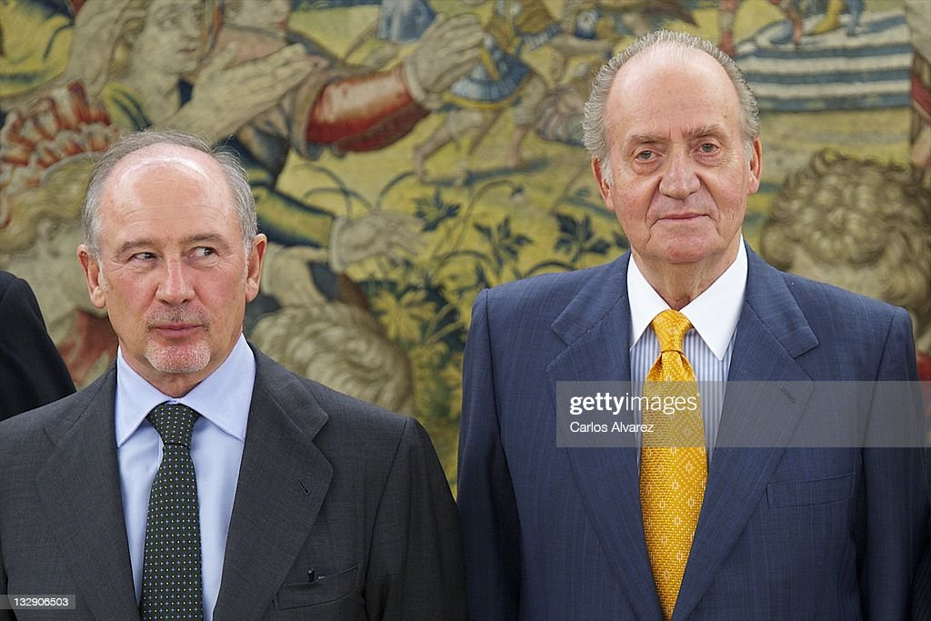 King Juan Carlos of Spain Attend Audiences at Zarzuela Palace