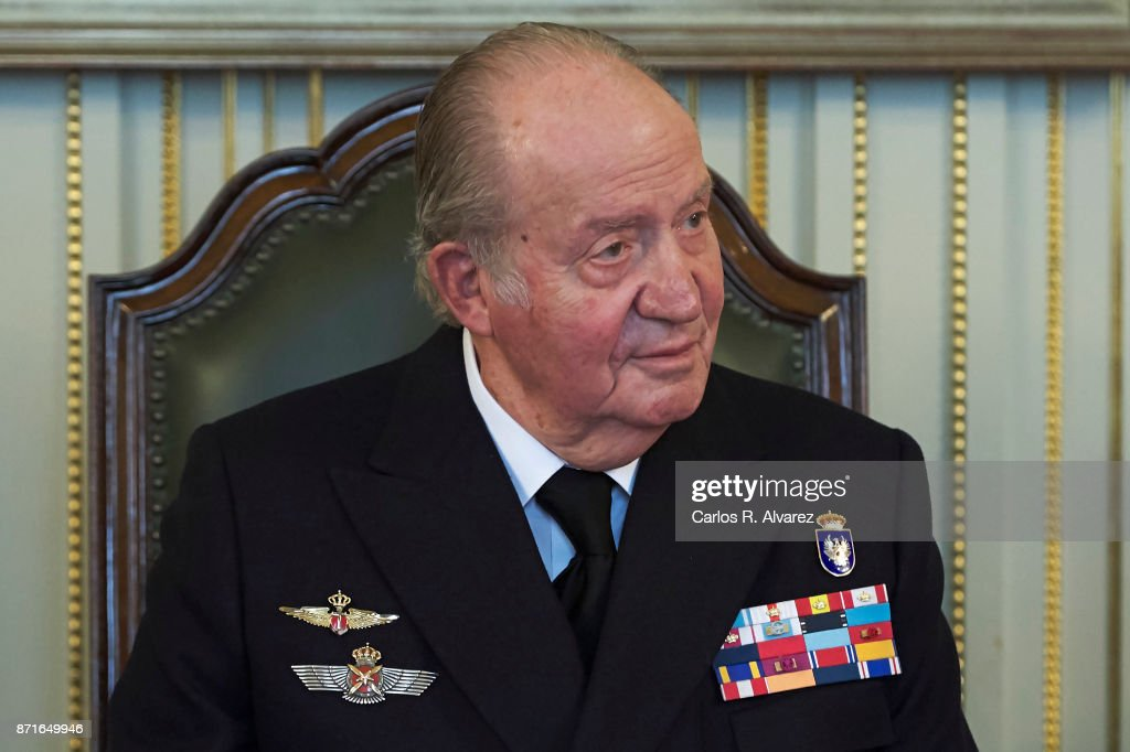 King Juan Carlos presides over the annual meeting of the Naval Museum on November 8, 2017 in Madrid, Spain.