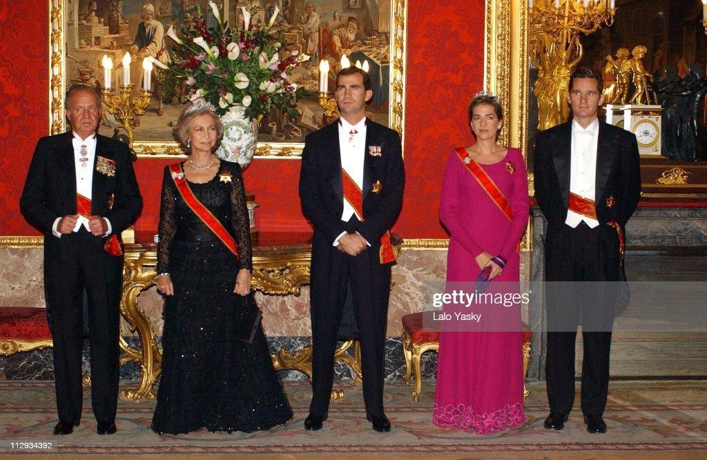 Spanish Royals Host Gala for German President Johannes Rau