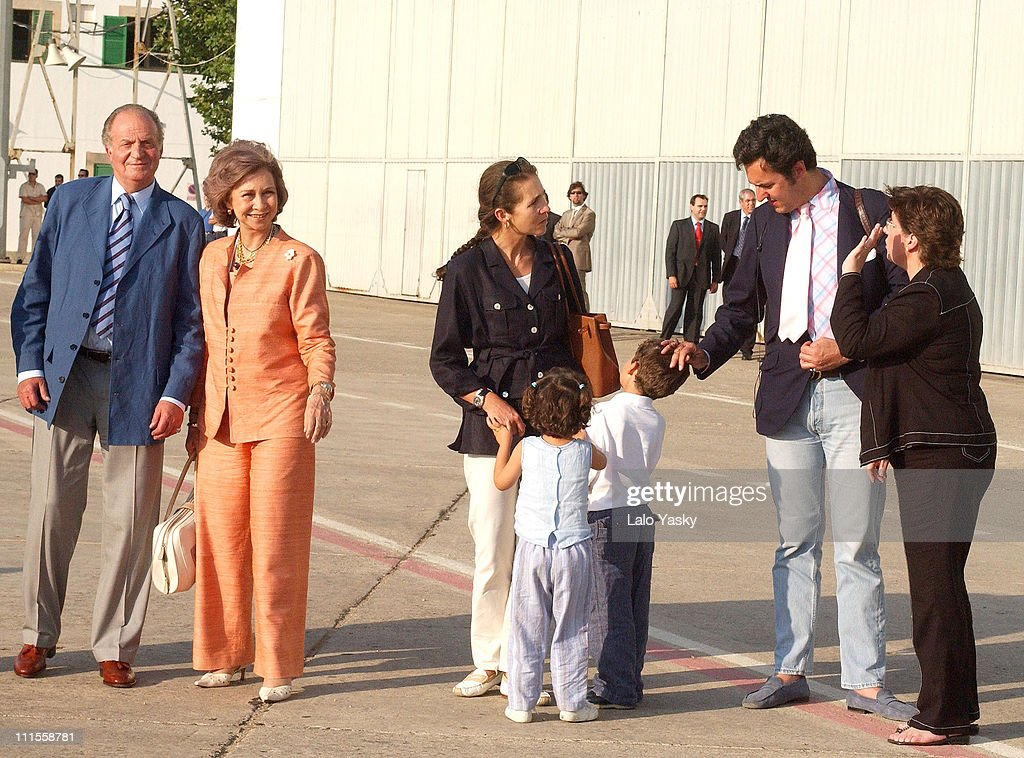 Spanish Royals Visit Mallorca for Summer Holidays - July 19, 2004 : Nieuwsfoto's