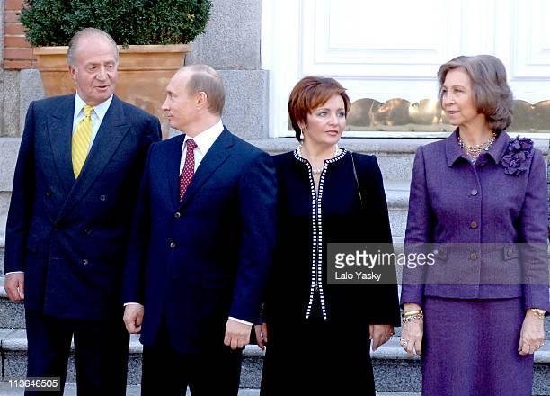 King Juan Carlos Vladimir Putin Liudmila Putin and Queen Sofia