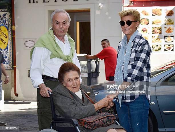 King Juan Carlos's brotherinlaw Doctor Carlos Zurita celebrates his 73th birthday with his wife Princess Margarita and his daughter Maria Zurita on...