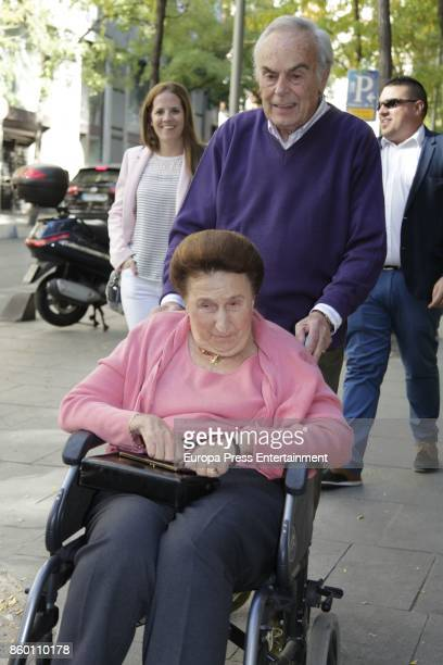 King Juan Carlos's brotherinlaw Doctor Carlos Zurita celebrates his 73th birthday with his wife Princess Margarita on October 9 2017 in Madrid Spain