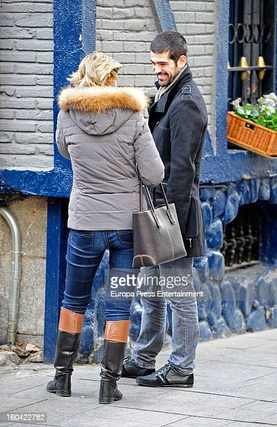King Juan Carlos's niece Maria Zurita and actor Miguel Angel Munoz are seen on January 30 2013 in Madrid Spain