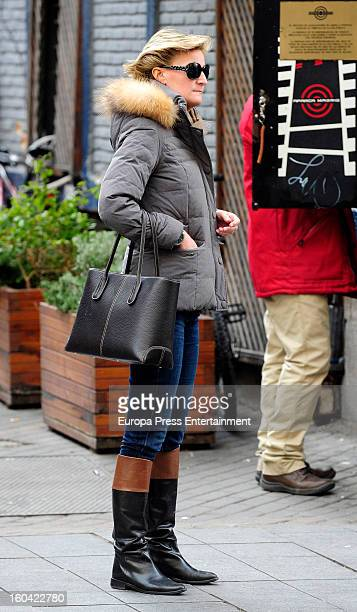 King Juan Carlos's niece Maria Zurita is seen on January 30 2013 in Madrid Spain