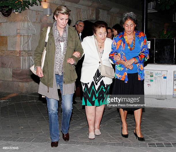 King Juan Carlos's sister Princess Margarita and her daughter Maria Zurita are seen on June 2 2014 in Madrid Spain
