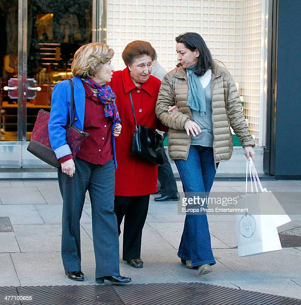 King Juan Carlos's sister Princess Margarita is seen in her 75th birthday on March 6 2014 in Madrid Spain