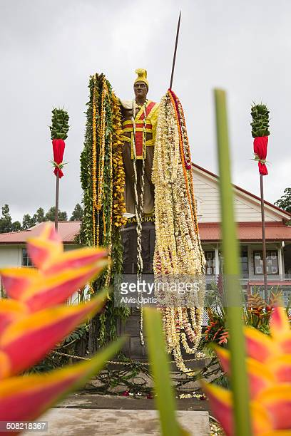 King Kamehameha statue with lei on his birthday