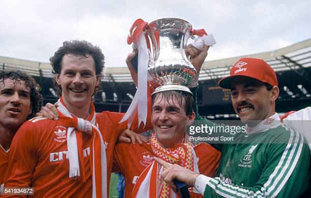'King Kenny' Dalglish is crowned with the FA Cup after Liverpool had beaten Everton in the FA Cup Final at Wembley Stadium in London 10th May 1986...