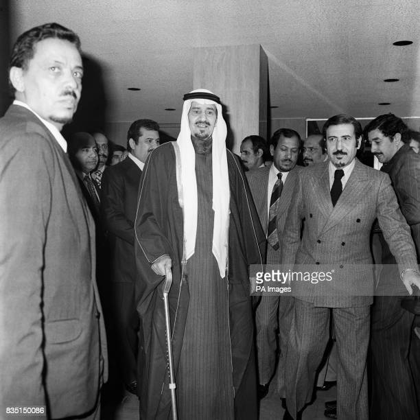 King Khalid bin Abdul Aziz of Saudi Arabia leaving London's private Wellington Hospital at St John's Wood today after a seven week stay during which...