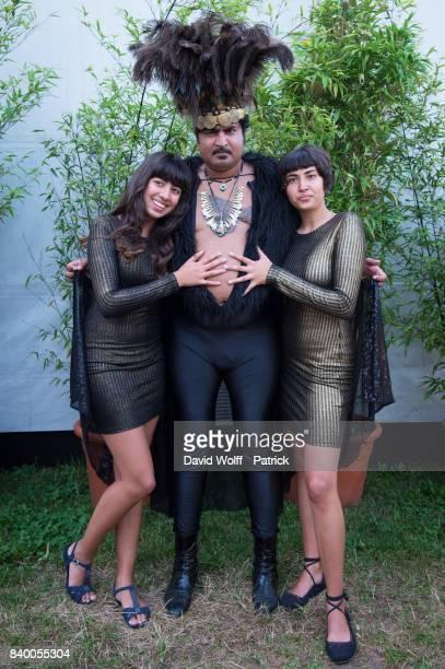 King Khan of King Khan and the Shrines poses backtstage at Rock en Seine Festival at Domaine National de SaintCloud on August 27 2017 in Paris France