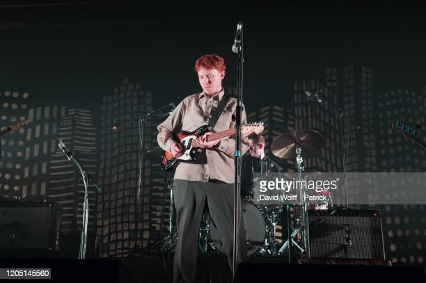 King Krule performs at L'Olympia on March 4, 2020 in Paris, France.
