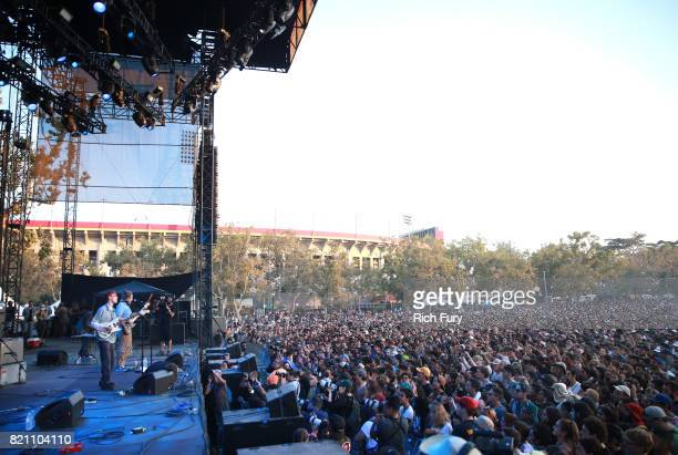 King Krule performs onstage during day 2 of FYF Fest 2017 at Exposition Park on July 22, 2017 in Los Angeles, California.