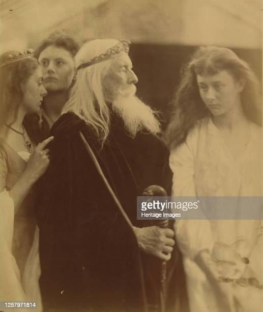 King Lear Alotting His Kingdom to His Three Daughters 1872 Artist Julia Margaret Cameron
