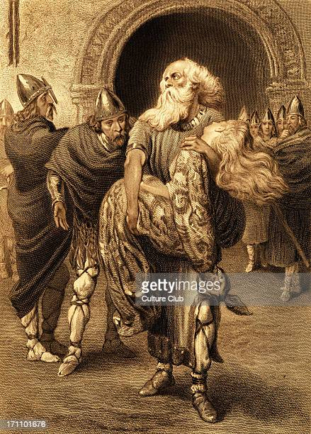 King Lear Play by William Shakespeare 'Lear A plague upon you murderers traitors all I might have saved her now she's gone for ever' Painted byV W...