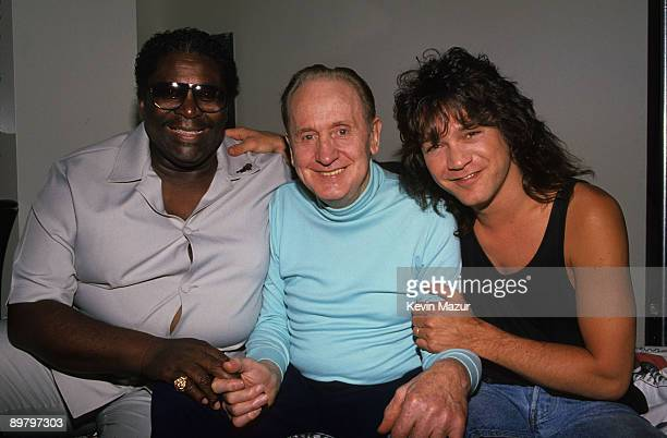 King Les Paul and Eddie Van Halen circa 1988 in New York City