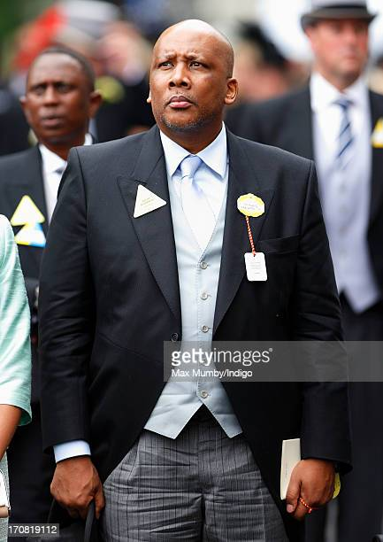 King Letsie III of Lesotho attends Day 1 of Royal Ascot at Ascot Racecourse on June 18, 2013 in Ascot, England.