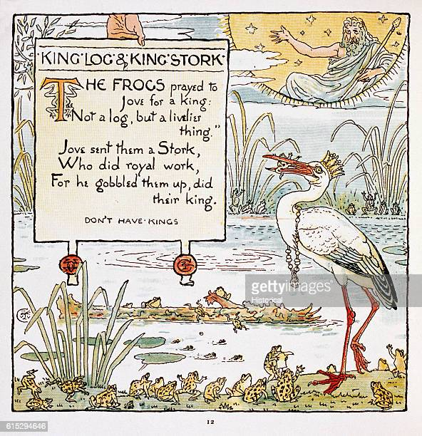'King Log and King Stork' From Walter Crane's Baby's Own Aesop