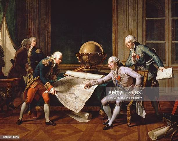 King Louis XVI of France giving instructions to La Perouse June 29 painting by Nicolas Ansiau France 18th century