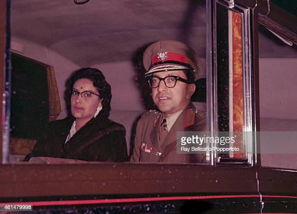 King Mahendra and Queen Ratna Rajya Laxmi Devi of Nepal in London circa October 1960