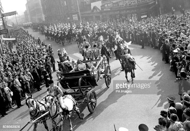 King Mahendra first Nepalese monarch to visit Britain has a warm welcome from the London crowds despite the remnants of the fog that delayed his...