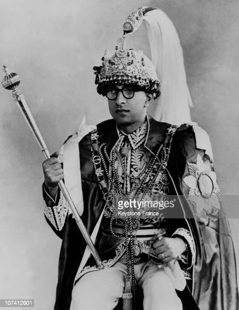 King Mahendra Of Nepal In His Coronation Dress In 1960