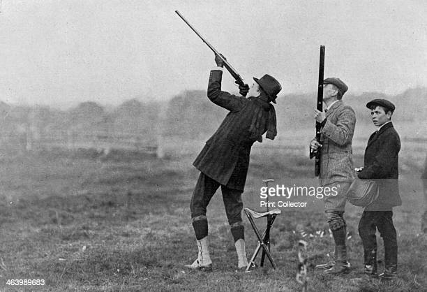 King Manuel II of Portugal shooting at Windsor Berkshire 1909 Manuel was visiting King Edward VII He was the last King of Portugal coming th the...