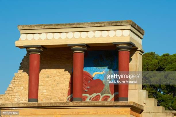 King Minos palace, Knossos, Iraklion, Crete island, Greece