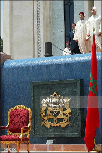 King Mohammed VI and brother Moulay Rachid in Tanger Morocco on July 30 2002