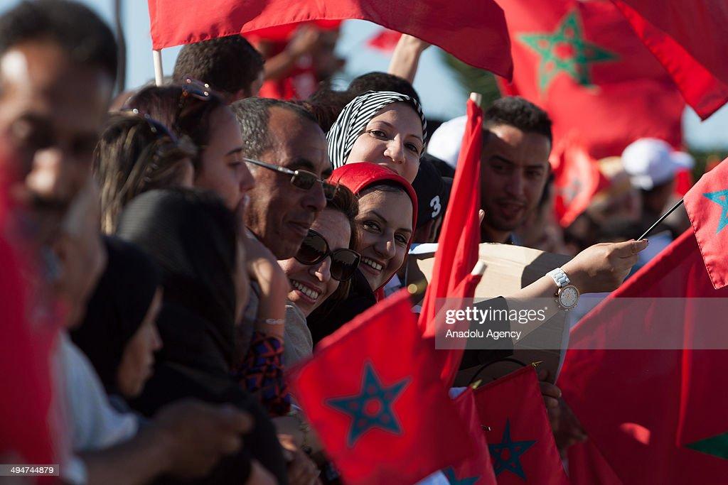 Moroccan King Mohammed VI in Tunus : Fotografia de notícias