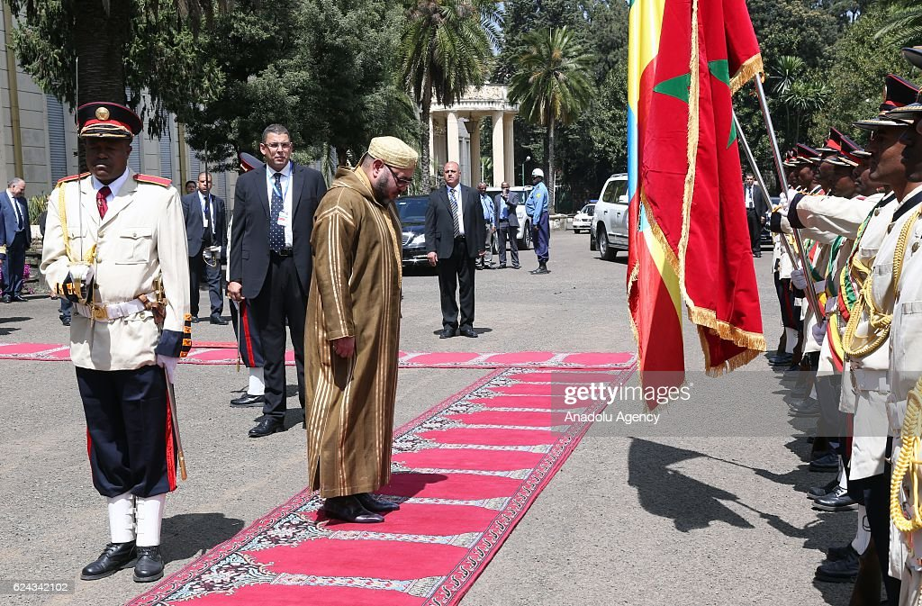 King Mohammed VI of Morocco in Ethiopia : Nachrichtenfoto