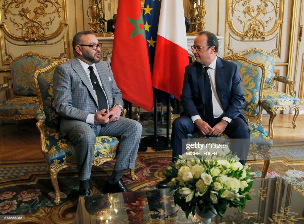 FRANCE-MOROCCO-POLITICS-DIPLOMACY : News Photo
