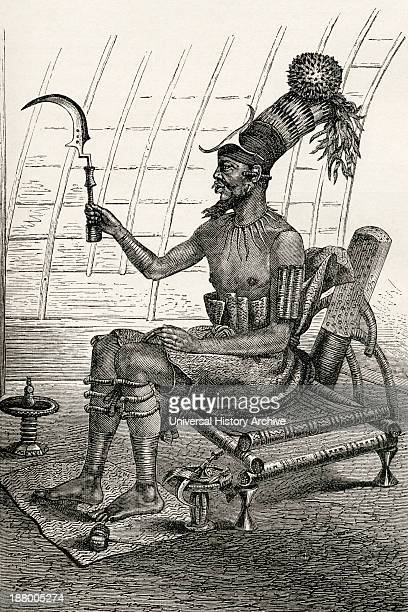 King Munza In Full Dress He Reigned In The Late 19Th Century Over The Monbuttoo A Tribe Of Cannibals In Central Africa From The World's Inhabitants...