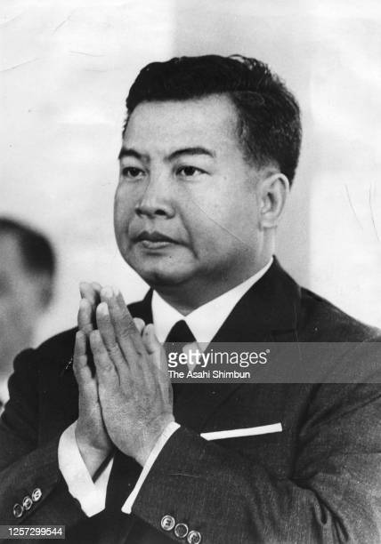 King Norodom Sihanouk of Cambodia attends the Independence Day ceremony on November 9, 1965 in Phnom Penh, Cambodia.