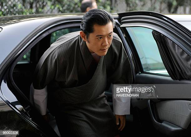 King of Bhutan Jigme Khesar Namgyel Wangchuck arrives for a meeting with Chairperson of the Congressled UPA Government Sonia Gandhi at her residence...