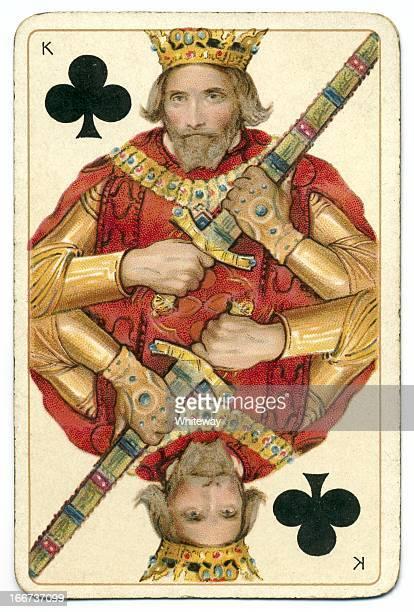 Rey de los clubes Dondorf Shakespeare antigua tarjeta de jugar