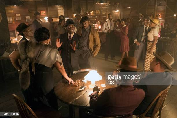 TIMELESS 'King of Delta Blues' Episode 206 Pictured Radha Blank as Bessie Smith Kamal Naiqui as Robert Johnson Paterson Joseph as Connor Mason...