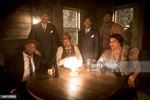 TIMELESS 'King of Delta Blues' Episode 206 Pictured Wiley B Oscar as Muddy Waters Keith Machekanyanga as Son House Kamal Naiqui as Robert Johnson...