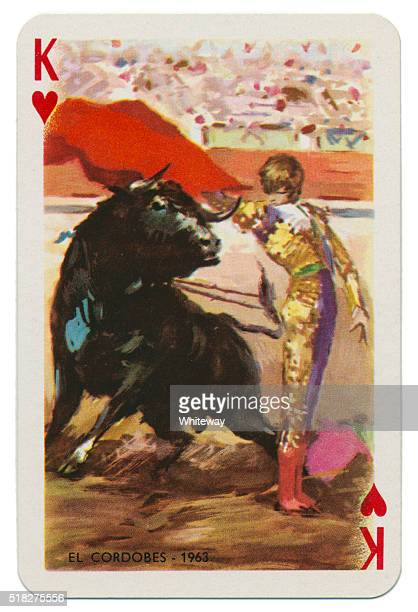 Baraja Taurina bullfighter King of Hearts 1965