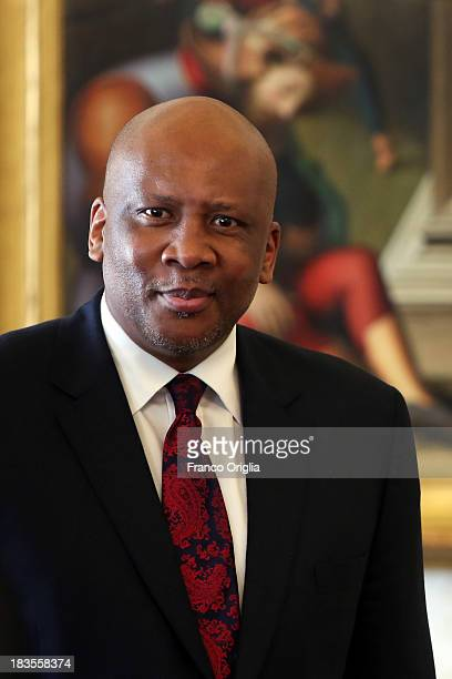 King of Lesotho Letsie III attends an audience with Pope Francis on October 7, 2013 in Vatican City, Vatican. The themes of their meeting have been...