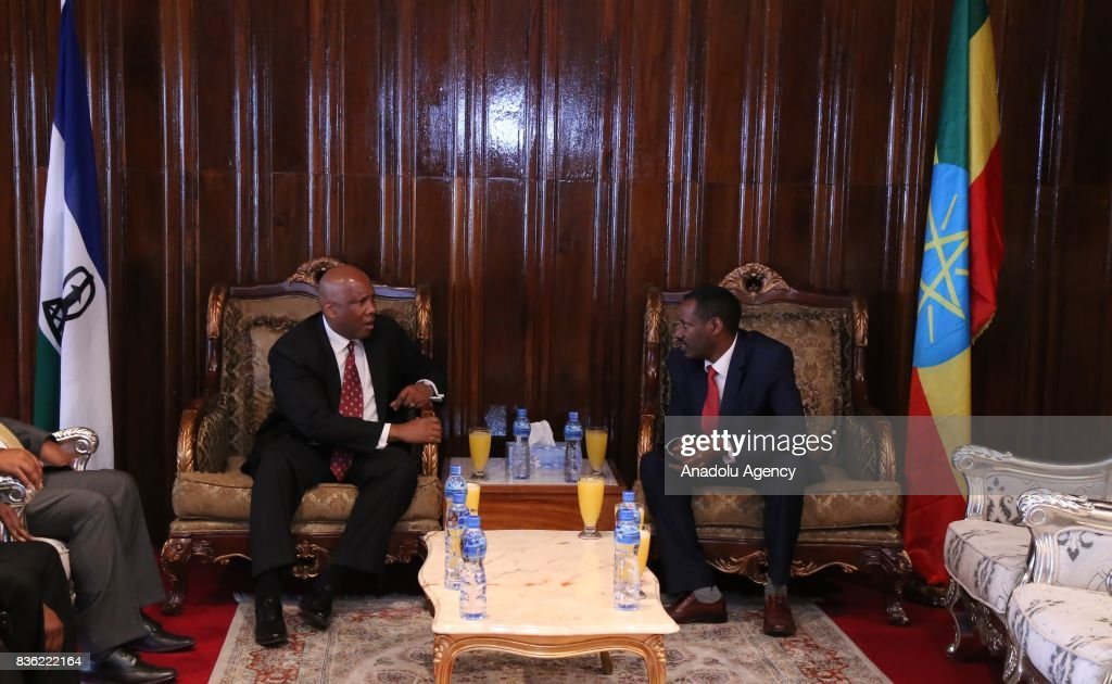 King Of Lesotho Letsie Meets With Ethiopian Health Minister Yifru News Photo Getty Images