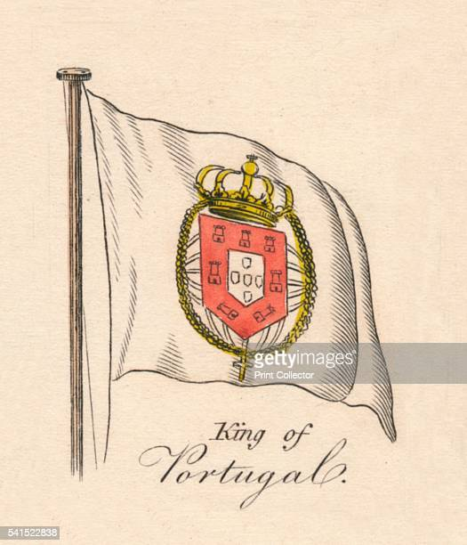King of Portugal' 1838 From A Display of the Naval Flags of All Nations Collected from the Best Authorities [Fisher Son Co London 1838] Artist Unknown