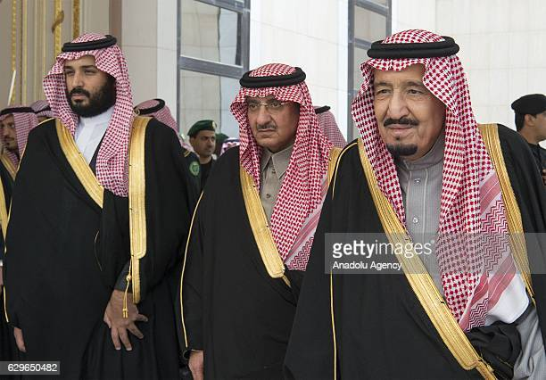 King of Saudi Arabia Salman bin Abdulaziz , Saudi defence minister and Deputy Crown Prince Mohammed bin Salman and Deputy Crown Prince and the...