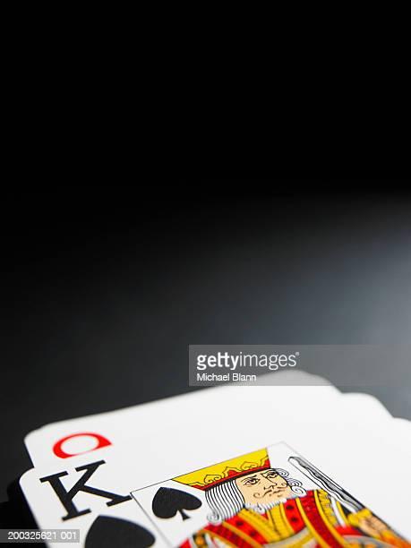 King of spades playing card, close-up