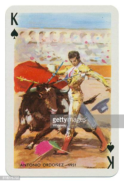 Baraja Taurina bullfighter King of Spades 1965
