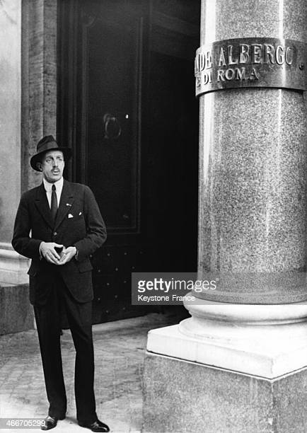 King of Spain Alfonso XIII circa 1920 in Rome Italy