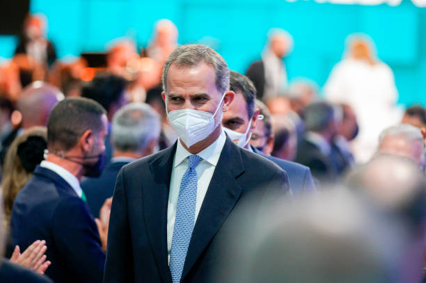 ESP: King Felipe Of Spain Delivers The Golden Medals of Galicia 2021