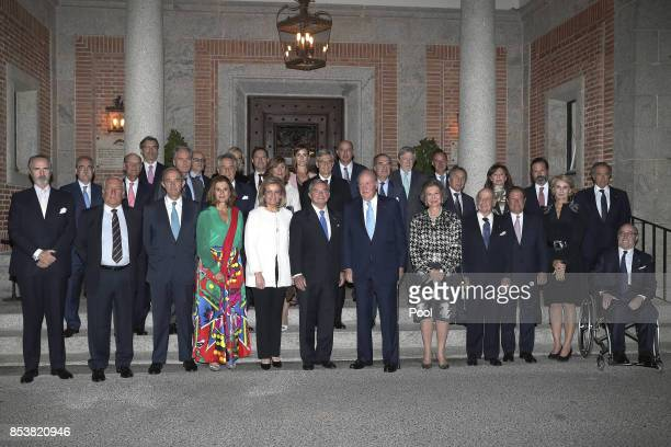 King of Spain Juan Carlos and Queen Sofía with the president of the Circle of Entrepreneurs Javier Vega de Seoane the Minister of Employment and...